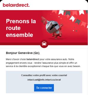 Email screenshor